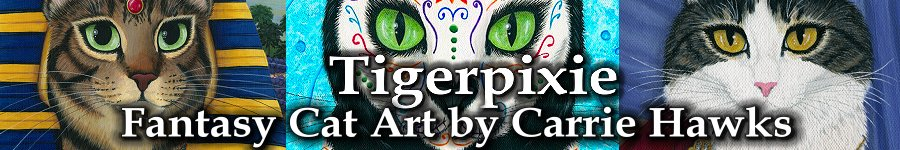 Tigerpixie Fantasy Cat Art