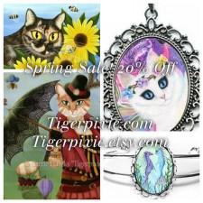 Tigerpixie Update! 20% Off Spring Sale! New Art! Musical Mercat