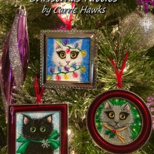 Tigerpixie Update! New Art Christmas Kitty Ornaments for The Rabbits Auction, Holiday Sales Reminders