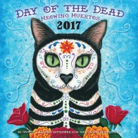 My cat art in the Day of the Dead Meowing Muertos 2017 Calendar!