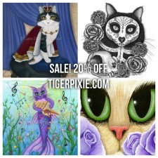 Holiday Sales! Tigerpixie.com, Etsy, Fine Art America Pixels and Heaven and Earth Designs!
