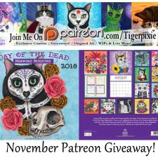 Tigerpixie Update! New Enamel Pins Special Pre-Order Sale! November Patreon Giveaway