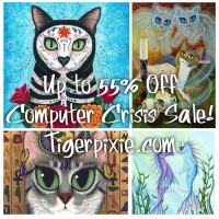 Tigerpixie Important! Computer Crisis Studio Sale! Originals up to 55% Off! LE Canvases 50% Off! Everything's On Sale!