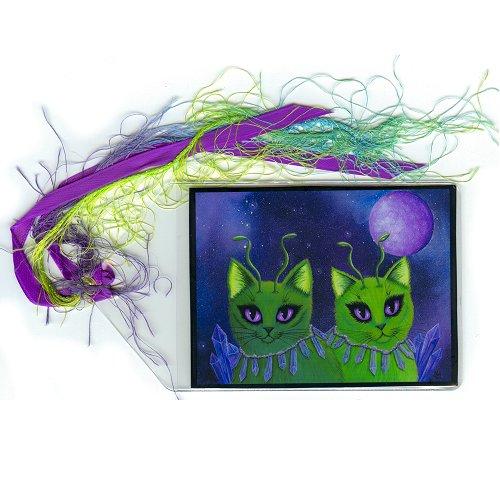 Bookmark - Alien Cats