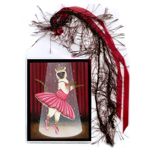 Bookmark - Ballerina Cat