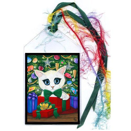 Bookmark - Christmas Kitten Boy