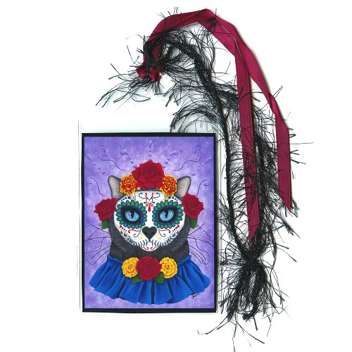 Bookmark - Day of the Dead Cat Gal