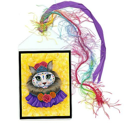 Bookmark - Day of the Dead Cat Princess