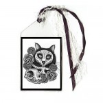 Bookmark - Day of the Dead Cat Skull