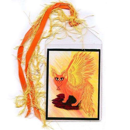 Bookmark - Elemental Fire Fairy Cat