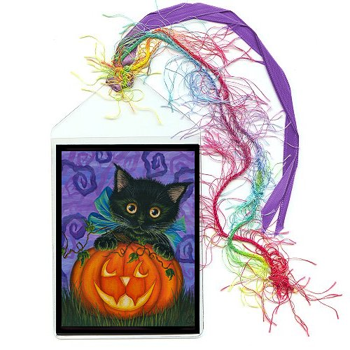 Bookmark - Halloween Black Kitty