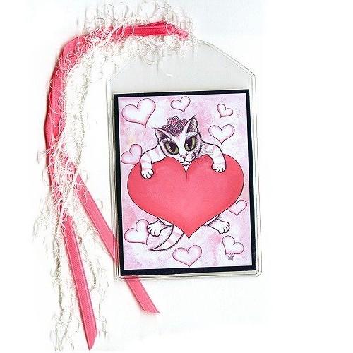 Bookmark - Kitten With Heart