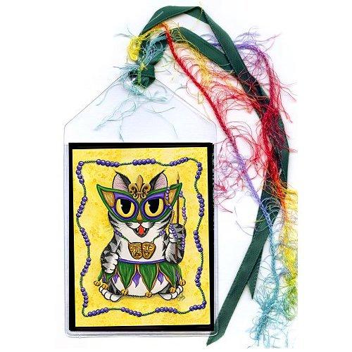 Bookmark - Lil Mardi Gras Cat