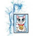 Bookmark - Maneki Neko Purity Cat