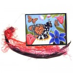 Bookmark - Monarch Butterfly Fairy Cat