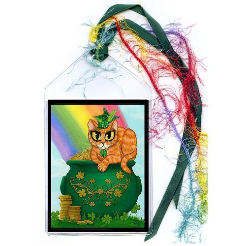 Bookmark - St. Paddy's Day Cat