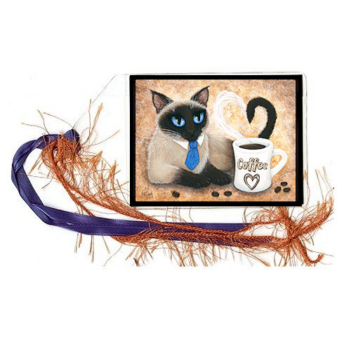 Bookmark - Siamese Coffee Cat
