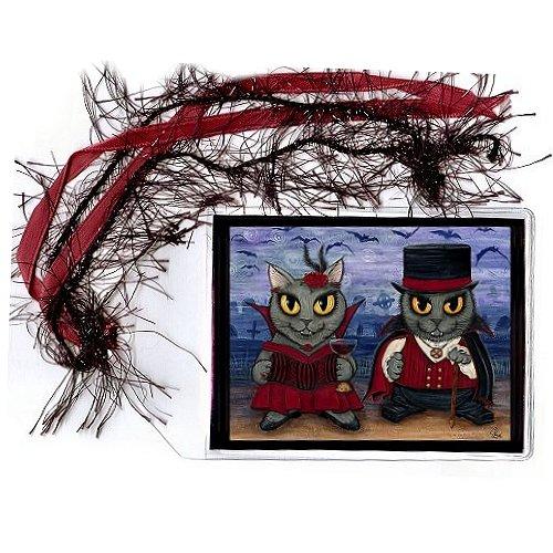 Bookmark - Vampire Cat Couple
