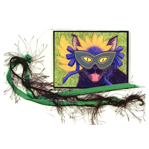 Bookmark - Wild Mardi Gras Cat