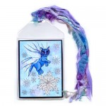 Bookmark - Winter Snowflake Fairy Cat