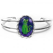 Cuff Bracelet - Alien Cat