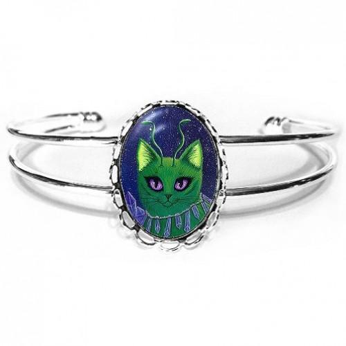 Cuff Bracelet - Alien Cats
