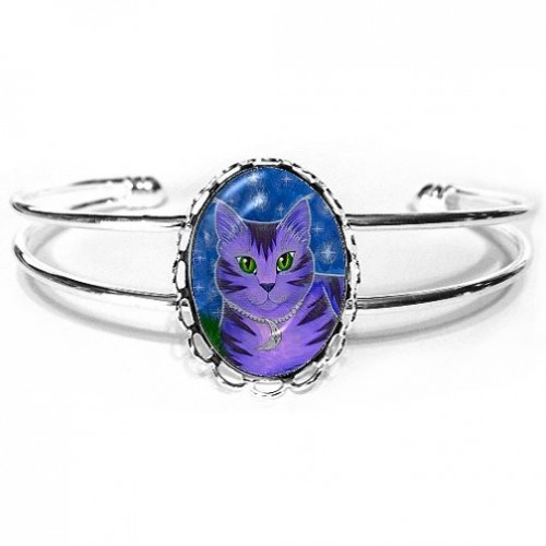 Cuff Bracelet - Astra Moon Cat