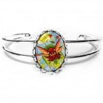Cuff Bracelet - Autumn Winds Fairy Cat