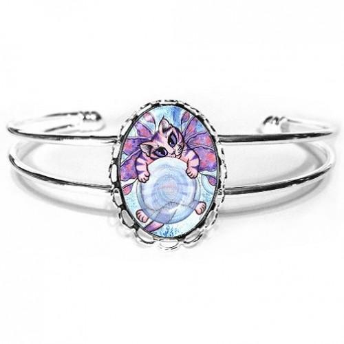 Cuff Bracelet - Bubble Fairy Kitten