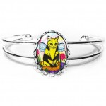 Cuff Bracelet - Buzz Bumble Bee Cat