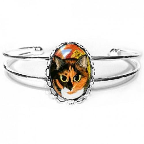 Cuff Bracelet - Calico's Mystical Pumpkin