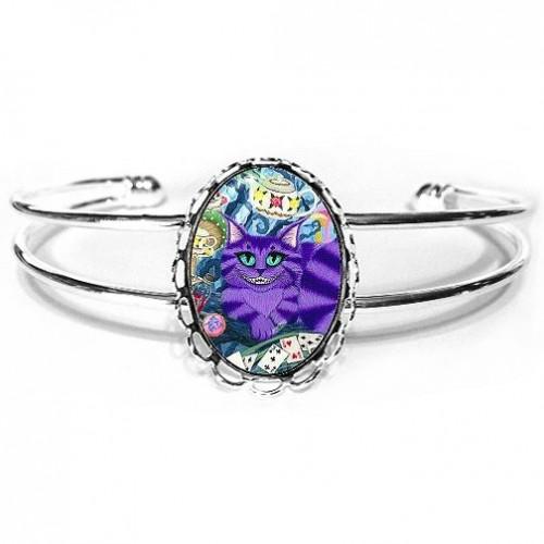 Cuff Bracelet - Cheshire Cat