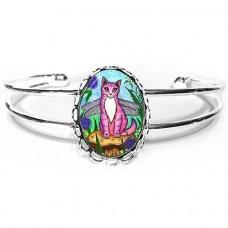 Cuff Bracelet - Dea Dragonfly Cat