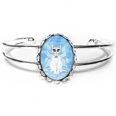 Cuff Bracelet - Elemental Air Fairy Cat