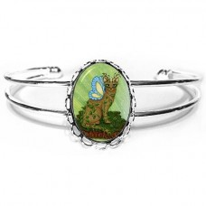 Cuff Bracelet - Elemental Earth Fairy Cat