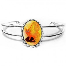 Cuff Bracelet - Elemental Fire Fairy Cat