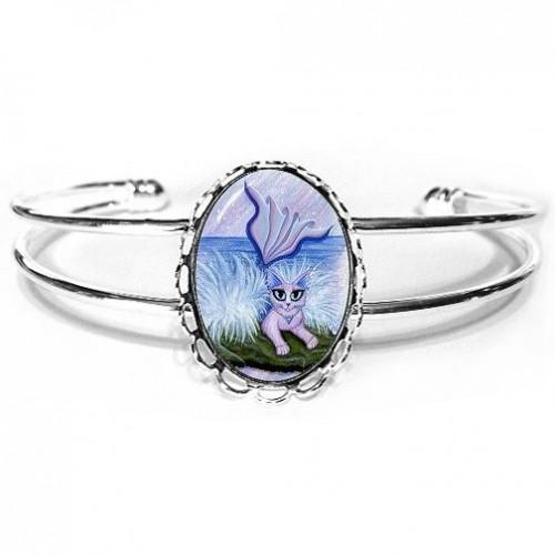 Cuff Bracelet - Elemental Water Mermaid Cat