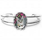 Cuff Bracelet - Garden Cat