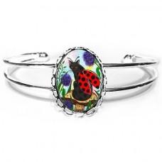 Cuff Bracelet - Logan Ladybug Cat