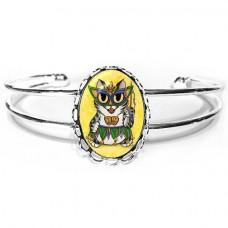 Cuff Bracelet - Lil Mardi Gras Cat