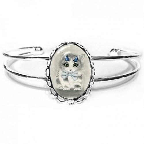 Cuff Bracelet - Little Blue Horns