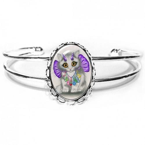 Cuff Bracelet - Little Purple Horns