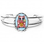 Cuff Bracelet - Maneki Neko Love Cat