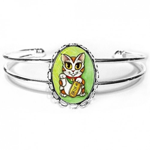 Cuff Bracelet - Maneki Neko Luck Cat