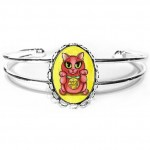 Cuff Bracelet - Maneki Neko Protection Cat