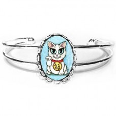 Cuff Bracelet - Maneki Neko Purity Cat