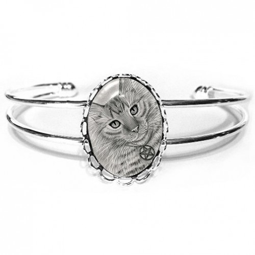 Cuff Bracelet - Purrfect Page of Pentacles