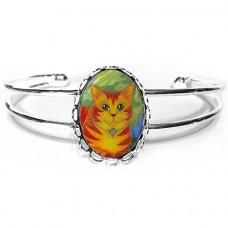 Cuff Bracelet - Rajah Sun Cat