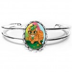 Cuff Bracelet - St. Paddy's Day Cat