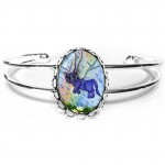 Cuff Bracelet - Spring Showers Fairy Cat